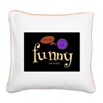A Funny Thought Black Square Canvas Pillow