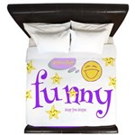 A Funny Thought King Duvet