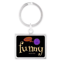 A Funny Thought Black Landscape Keychains