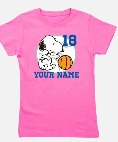 Snoopy Basketball - Personalized Girl's Tee