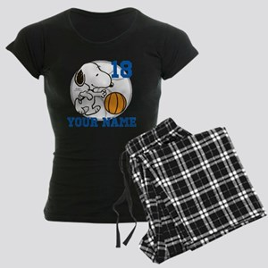 Snoopy Basketball - Personal Women's Dark Pajamas