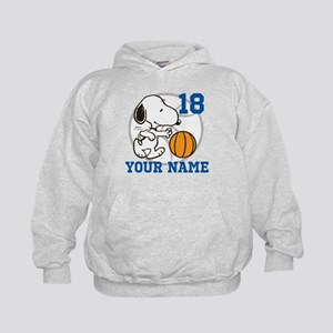 Snoopy Basketball - Personalized Kids Hoodie