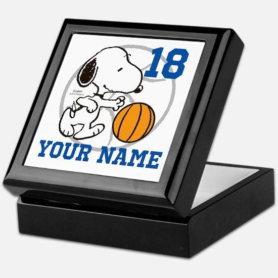 Snoopy Basketball - Personalized Keepsake Box