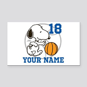 Snoopy Basketball - Personali Rectangle Car Magnet