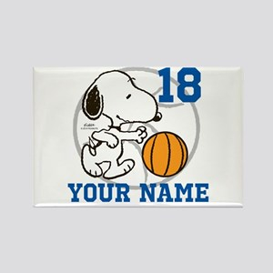 Snoopy Basketball - Personalized Rectangle Magnet