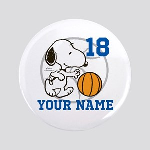Snoopy Basketball - Personalized Button
