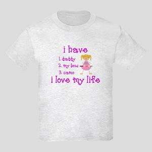 Love My Life (Blonde) Kids Light T-Shirt
