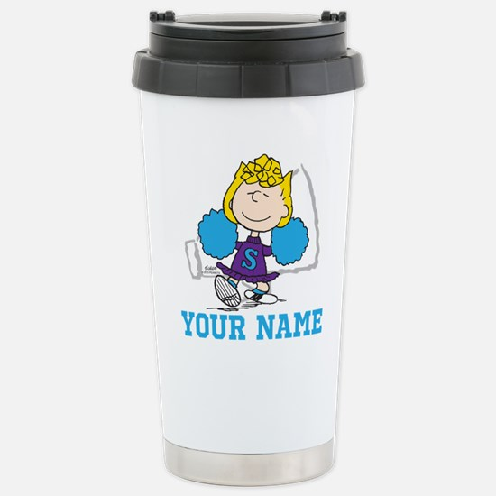 Snoopy Sally Cheer - Pe Stainless Steel Travel Mug