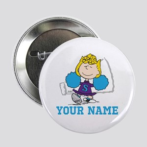 "Snoopy Sally Cheer - Personalized 2.25"" Button"