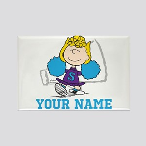 Snoopy Sally Cheer - Personalized Rectangle Magnet