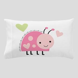 Pink Ladybug Pillow Case