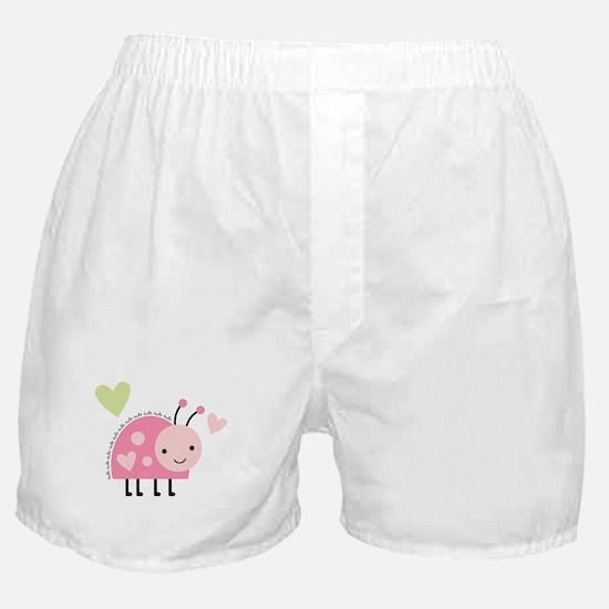 Pink Ladybug Boxer Shorts