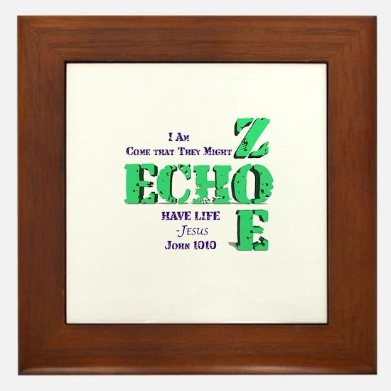 Cute Zoe Framed Tile