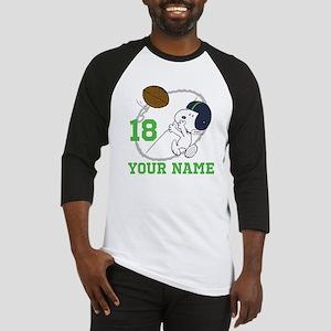 Snoopy Football - Personalized Baseball Jersey