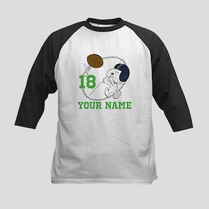 Snoopy Football - Personalize Kids Baseball Jersey