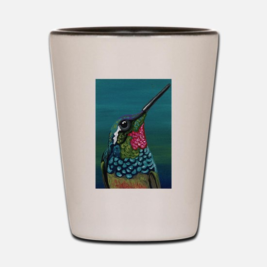 Hummingbird Shot Glass