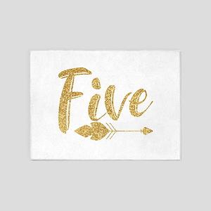 Arrow Faux Glitter Five 5'x7'Area Rug