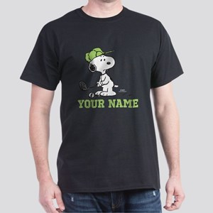 Snoopy Golf - Personalized Dark T-Shirt