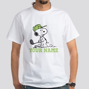 Snoopy Golf - Personalized White T-Shirt