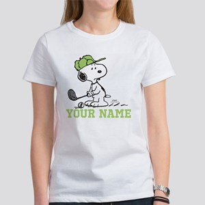 Snoopy Golf - Personalized Women's T-Shirt