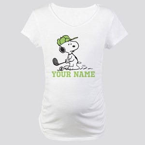 Snoopy Golf - Personalized Maternity T-Shirt