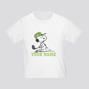 Snoopy Golf - Personalized Toddler T-Shirt