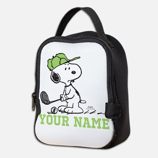 Snoopy Golf - Personalized Neoprene Lunch Bag