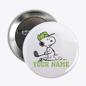 """Snoopy Golf - Personalized 2.25"""" Button"""