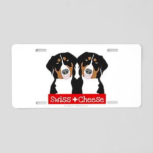 Swiss Cheese Swiss Mountain Dogs Aluminum License