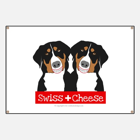 Swiss Cheese Swiss Mountain Dogs Banner