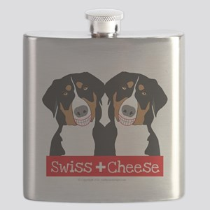 Swiss Cheese Swiss Mountain Dogs Flask