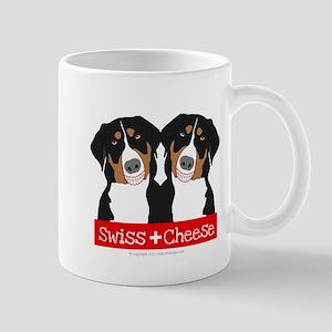Swiss Cheese Swiss Mountain Dogs Mugs