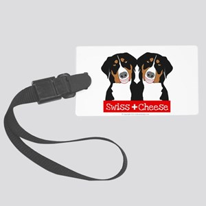 Swiss Cheese Swiss Mountain Dogs Luggage Tag