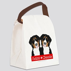 Swiss Cheese Swiss Mountain Dogs Canvas Lunch Bag