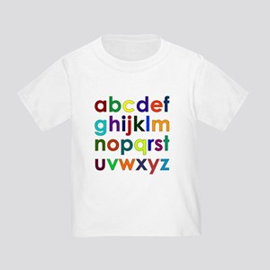 Colorful Alphabet Toddler T-Shirt