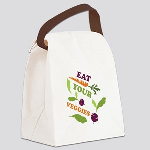 Eat You Veggies Canvas Lunch Bag