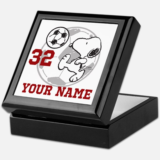 Snoopy Soccer - Personalized Keepsake Box