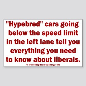Hypebred Cars n Liberals Sticker (Rectangle)