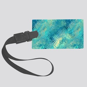 Turquoise Crystal Pattern Large Luggage Tag