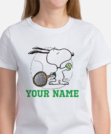 Snoopy Tennis - Personalized Women's T-Shirt