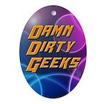 Damn Dirty Geeks Oval Ornament
