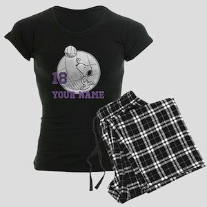 Snoopy Volleyball - Personal Women's Dark Pajamas
