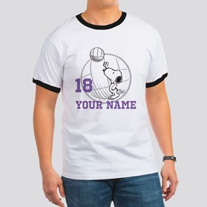 Snoopy Volleyball - Personalized Ringer T