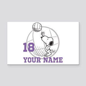Snoopy Volleyball - Personali Rectangle Car Magnet