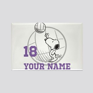 Snoopy Volleyball - Personalized Rectangle Magnet