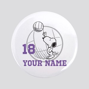 Snoopy Volleyball - Personalized Button