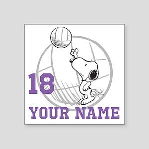 "Snoopy Volleyball - Persona Square Sticker 3"" x 3"""