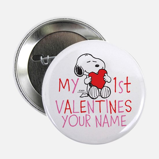 """Snoopy - My 1st Vday 2.25"""" Button"""