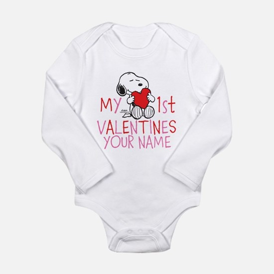 Snoopy - My 1st Vday Long Sleeve Infant Bodysuit