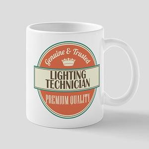 lighting technician vintage logo Mug